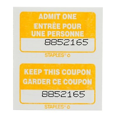 Billets d'entrée Doubles (1000)