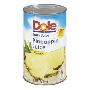Dole pineapple juice 48 x 170 ml