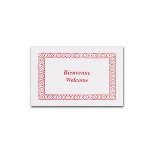 "Napperon bienvenue rouge 9""x13"" (1000 / cs)"