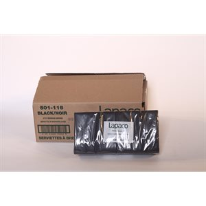 Black beverage napkins 2ply (1000 / cs)