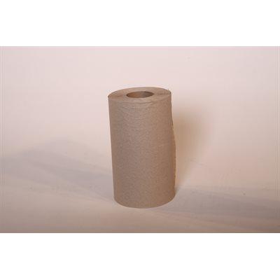 "Papier à mains brun 8""x425' (12rlx)"