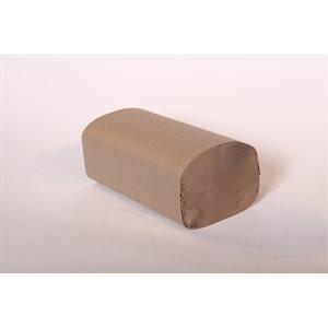 """Papier à mains plis multiples brun 9.1""""x9.5"""" (4000 / cs)"""
