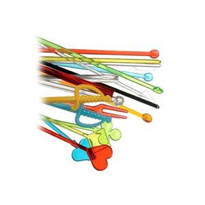 Assorted color plastic pick 4as (2000 / cs)