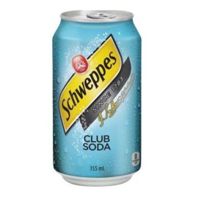 Club soda canettes 12 x 355 ml